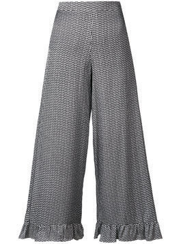 Isabelle Blanche polka dot printed trousers - White