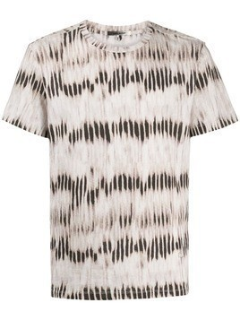 Isabel Marant faded-stripe print T-shirt - NEUTRALS