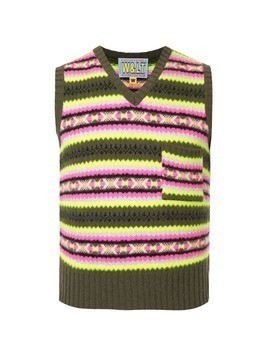 Walter Van Beirendonck Vintage striped knitted vest - Multicolour