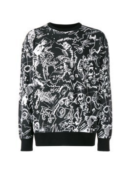 Versus printed sweatshirt - Black