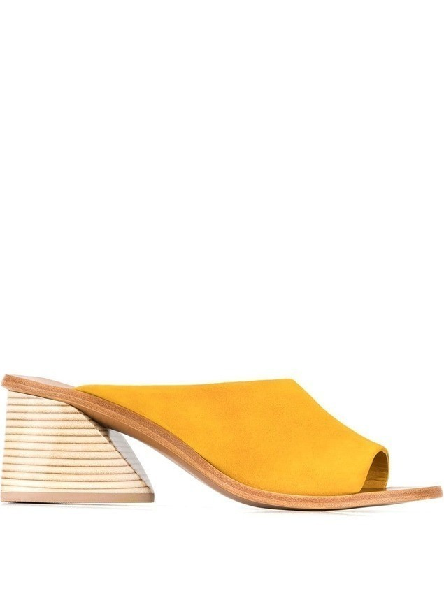 Mercedes Castillo Izar mules - Yellow