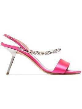 Alchimia Di Ballin pink Pethia 80 silk satin leather sandals
