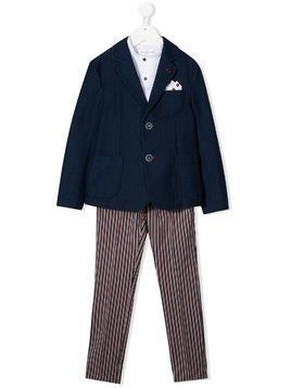 Colorichiari four-piece tailored suit - Blue