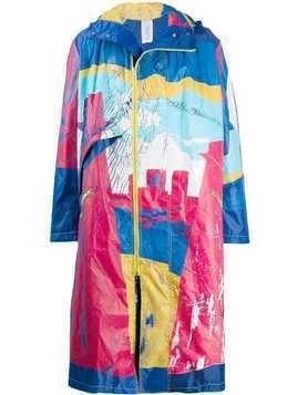 Bethany Williams distressed look raincoat - Blue