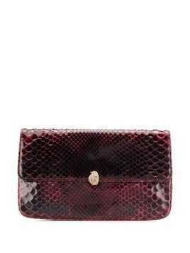 A.N.G.E.L.O. Vintage Cult 1970s varnished flap clutch - Red