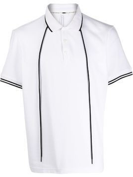 Blackbarrett drawstring polo shirt - White