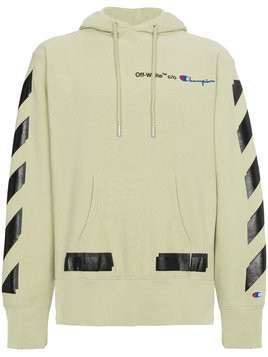 Off-White - X Champion hoodie with logo - Herren - Cotton/Polyester - XL - Green