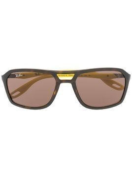 Ray-Ban x Scuderia Ferrari wrap sunglasses - Brown
