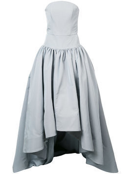 Christian Siriano bustier asymmetric gown - Grey