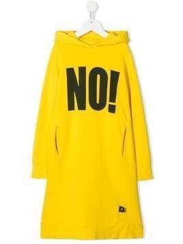 Nununu No jersey hooded dress - Yellow