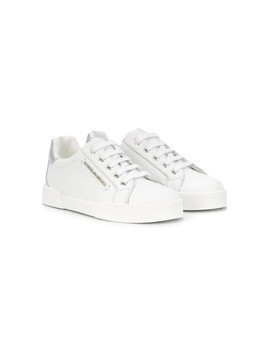Dolce & Gabbana Kids metallic heel counter sneakers - White