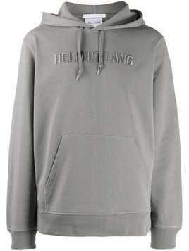 Helmut Lang embroidered logo hoodie - Grey