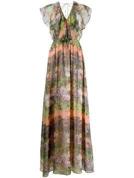 Ailanto floral print maxi dress - Orange