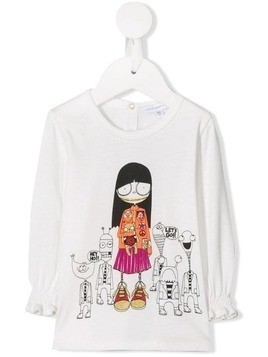 Little Marc Jacobs cartoon print T-shirt - White