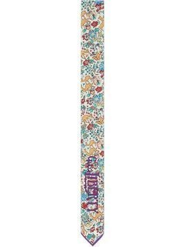 Gucci x Liberty floral and animal neck bow - White