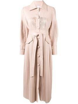 Huishan Zhang Rosie pleated midi dress - Pink