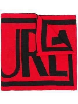 Versace Jeans Couture logo print scarf - Red