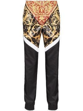 Versace panelled Baroque print track pants - Red