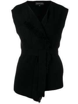 Cashmere In Love sleeveless knitted top - Black