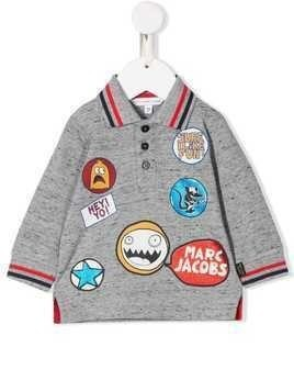 Little Marc Jacobs Sure I Like Fun polo shirt - Grey