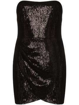Haney Olivia strapless sequin mini dress - Black
