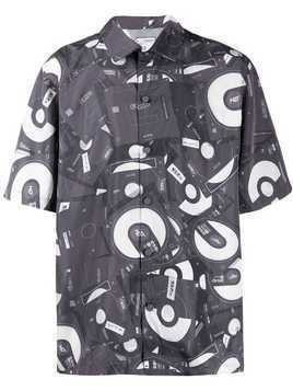 C2h4 disposed flashdrive print shirt - Grey