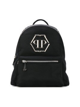 Philipp Plein logo plaque backpack - Black
