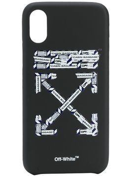 Off-White airport print iPhone XS phone case - Black