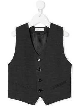 Paolo Pecora Kids classic fitted waistcoat - Grey