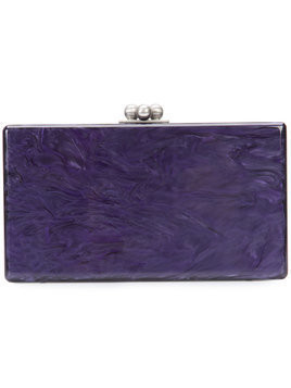 Edie Parker box clutch bag - Purple