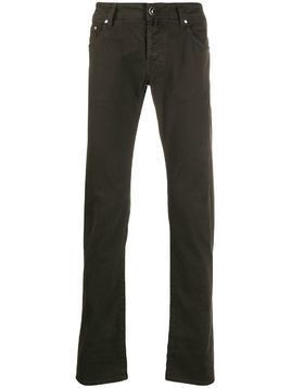 Jacob Cohen straight leg chinos - Brown