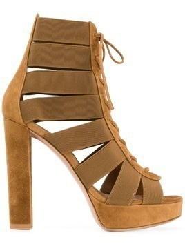 Gianvito Rossi lace-up sandals - Brown