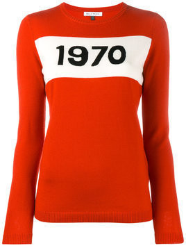 Bella Freud 1970 intarsia sweater - Red