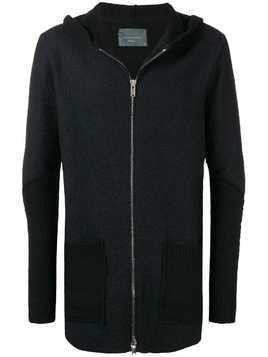 10Sei0otto knitted zip jacket - Black