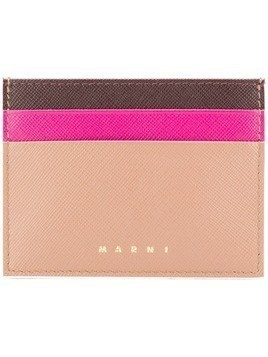Marni colour blocked card holder - Nude & Neutrals