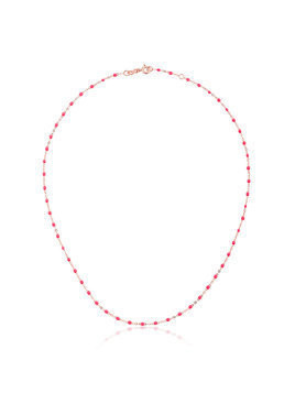 Gigi Clozeau pink RG bead rose gold necklace