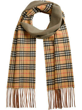 Burberry - double faced check scarf - Herren - Cashmere - One Size - Nude & Neutrals