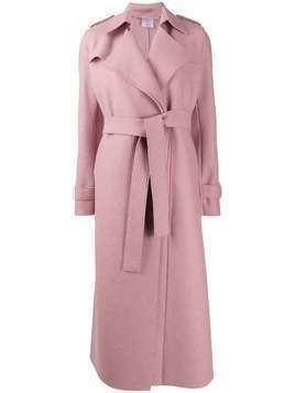 Harris Wharf London long belted coat - PINK