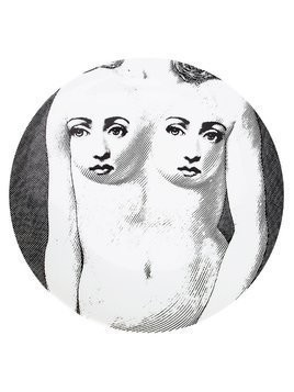 Fornasetti nude faces plate - Black