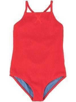 Duskii Girl Yara crisscross swimsuit - Red