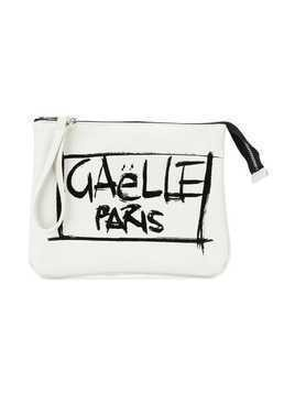 Gaelle Paris Kids brand grafitti print clutch - White