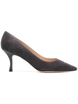 Stuart Weitzman pointed toe kitten heel pumps - Grey
