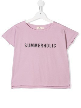 Andorine Summerholic print T-shirt - Purple