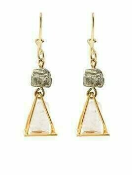 Marni stone drop earrings - Gold