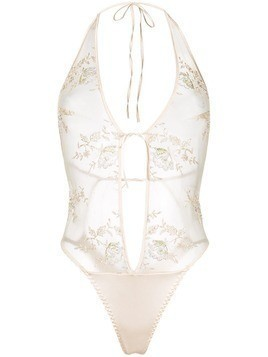 Belle Et Bon Bon sheer lace body - Neutrals