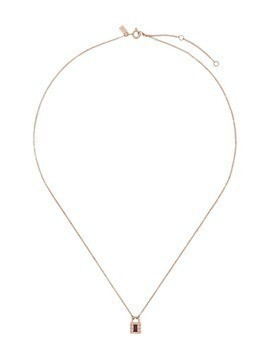Ef Collection 14kt gold diamond lock necklace - Bronze