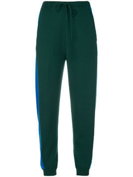 Ports 1961 side stripe track trousers - Green
