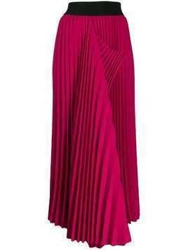 Maison Flaneur asymmetric hem pleated skirt - Pink