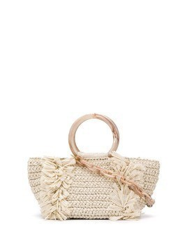 Carolina Santo Domingo fringed tote - White