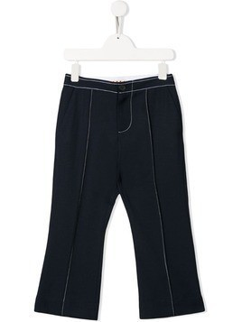 Marni Kids contrast stitching trousers - Blue